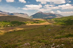 Vibrant scenic landscape from the west of ireland Royalty Free Stock Photos