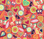 Vibrant Seamless Pattern Royalty Free Stock Images