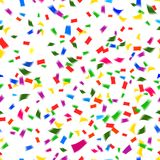 Vibrant seamless pattern of falling confetti Stock Photos