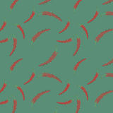 Vibrant seamless vector pattern red  peppers made of geometrical Royalty Free Stock Photography