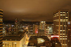 Vibrant Seattle Downtown Stock Photography
