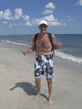 Vibrant senior man at beach Royalty Free Stock Photo