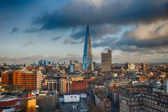 Vibrant The Shard London from Tate Modern Royalty Free Stock Image