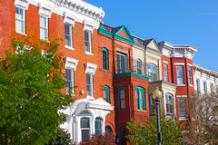 The vibrant Shaw neighborhood in Washington DC. Royalty Free Stock Images