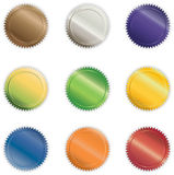 Vibrant Shiny Buttons. Various Vibrant Shiny Vector Buttons Royalty Free Stock Images