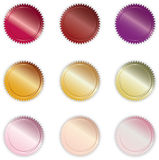 Vibrant Shiny Buttons. Various Vibrant, Shiny Warm-colored Vector Buttons Stock Images
