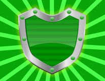 Vibrant and Shiny Green Shield Royalty Free Stock Photo