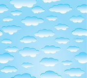 Vibrant sky. Vibrant color clouds on blue sky illustration Royalty Free Stock Photography