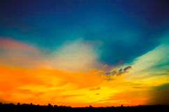 Vibrant sky after sunset. Vibrant sky after the sunset royalty free stock photography