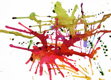 Vibrant splattered painting Royalty Free Stock Photography