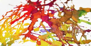 Vibrant splatters Royalty Free Stock Photos