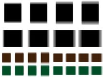 Vibrant square, vibrating black brown green square Stock Image