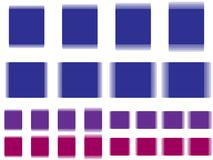 Vibrant square, vibrating blue purple square Royalty Free Stock Images