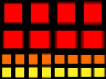 Vibrant square, vibrating red orange yellow square Stock Images