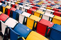 Vibrant stadium chairs. Royalty Free Stock Photography