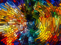 Vibrant Stained Glass Stock Image
