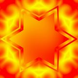 Vibrant star background with copyspace, dark orange and yellow background Stock Image