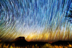 Vibrant startrails Royalty Free Stock Photo