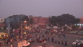 The vibrant Street in India stock video footage