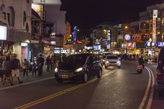 Vibrant streets at Kenting Street Night Market with locals and tourist stock photos
