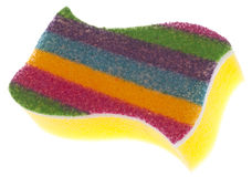 Vibrant Striped Sponge Stock Photo