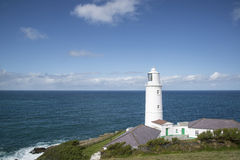 Vibrant Summer landscape image of Trevose head in Cornwall Engla Stock Image