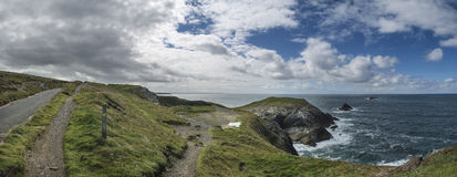 Vibrant Summer landscape image of Trevose head in Cornwall Engla Stock Images