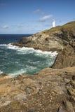 Vibrant Summer landscape image of Trevose head in Cornwall Engla Stock Photography