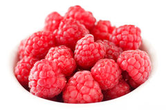 Vibrant summer raspberries Royalty Free Stock Images