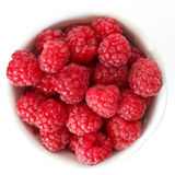 Vibrant summer raspberries Royalty Free Stock Image