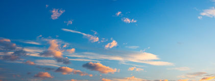 Vibrant Sunrise Clouds Royalty Free Stock Images