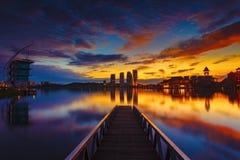 Pullman Putrajaya at Sunrise Royalty Free Stock Photography