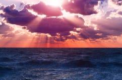 Vibrant sunrise sea Stock Photography