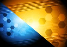 Vibrant tech background Royalty Free Stock Image