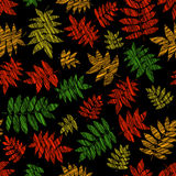 Vibrant texture with scraped nanakamado leaves. Seamless pattern. Royalty Free Stock Photo