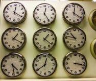 Vibrant timezone clocks Stock Photography