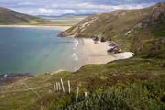 Vibrant Tramore strand near Horn Head in Donegal Stock Images