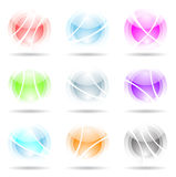 Vibrant, transparent, spheres. Abstract design elements: vibrant, transparent, spheres isolated on white Royalty Free Stock Photos