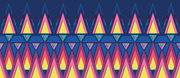 Vibrant triangles horizontal seamless pattern Stock Image