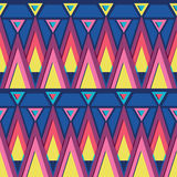 Vibrant triangles seamless pattern background Royalty Free Stock Photography
