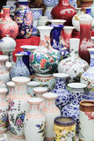 Vibrant vases on a Chinese market Stock Photo