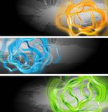 Vibrant vector banners Royalty Free Stock Photo