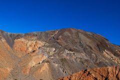 Vibrant view of Badwater basin, endorheic basin in Death Valley National Park, Death Valley, Inyo County California, USA royalty free stock photo