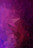 Vibrant violet polygonal vector background Royalty Free Stock Photography