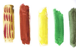 Vibrant Water Color Strokes Royalty Free Stock Photos