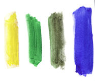 Vibrant Water Color Strokes Stock Photography