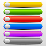 Vibrant Web Buttons with Gray Elements Stock Photo
