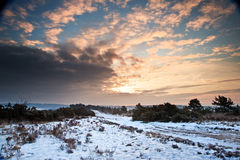 Vibrant Winter sunrise landscape Royalty Free Stock Image