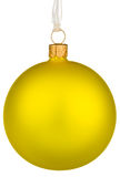 Vibrant yellow Christmas Bauble Royalty Free Stock Images