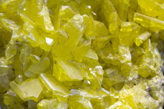 Vibrant yellow colored elemental sulfur Stock Images